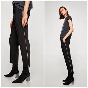 Zara Black Jogger Style Trousers.